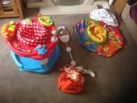 Baby swing, activity centre, activity ring