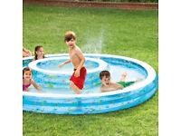 Large inflatable paddling pool