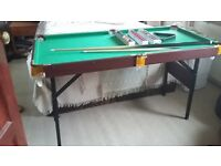 Childs fold down Snooker/Pool table