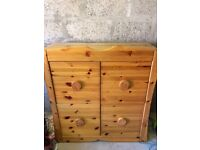 Solid Pine Chest of Drawers with 4 deep drawers
