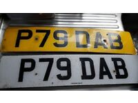 P79DAB number plate