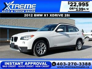 2013 BMW X1 xDrive28i $139 bi-weekly APPLY NOW DRIVE NOW