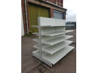 AMX Retail Shelving, Double Sided. Top Condition. Cheapest Available on Gumtree.