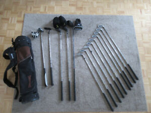 FULL RIGHT-HANDED GOLF SET + BAG (DRIVER, IRONS, WOODS, PUTTERS)
