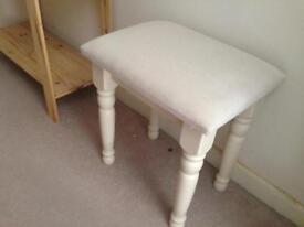 Cream Fabric dressing table stool