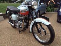Triumph Bonneville T120 1959 Tangerine Dream.