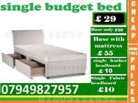Single and Double Budget Frame available , Bedding