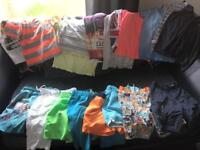 Boys swim shorts tshirts/vests bundle 8-9