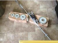 York 50KG Chrome Barbell & Dumbell Set