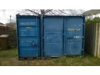 3 No Steel Site Containers, Good Condition