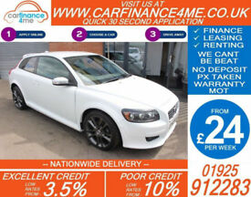 2008 VOLVO C30 2.0 R-DESIGN SPORT GOOD / BAD CREDIT CAR FINANCE FROM 24 P/WK
