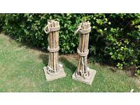 Bleu Nature Designer Driftwood & Rope Lamps - Pair