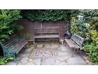 SOLD 3 garden benches