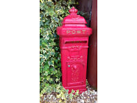Post Box Cast Metal 2 Locked Doors