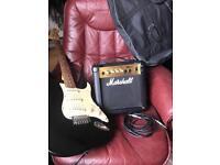 Stagg Electric Guitar & Marshall 40Watt Amplifier