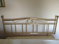 Double bed Brass effect headboard