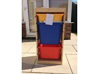 Ikea Trofast storage unit with plastic boxes