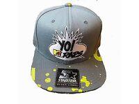 MTV yo raps Starter Snap Back Hat Cap MT-078-GRY-VOL-OS FREE U.K. P And P