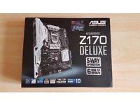 ASUS Z170 DELUXE 6 USB 3.1, M.2 x4, U.2 Support, Intel LGA 1151 Socket (NEW)