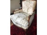 Lovely Antique Feather Duck Down Filled Seat Based Armchair