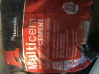 Cement and sand - 1 x 25kg bag of each