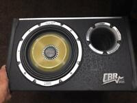 10 inch vibe cbr subwoofer with built in amp - 1300 watts