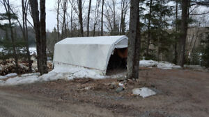 LARGE LONG LIFE TARPS TOUGH AND RUGGED 14.5 FT WIDE BY 45 LONG