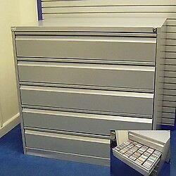 Professional CD/DVD 5 drawer lockable storage unit