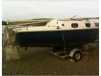 Kingfisher K20 on galvanised yacht trailer
