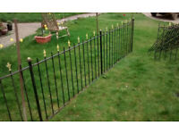 Antique Iron railings, over 10 metres in length