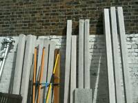 Various concrete fence posts for sale-9ft-7ft-6.6ft.