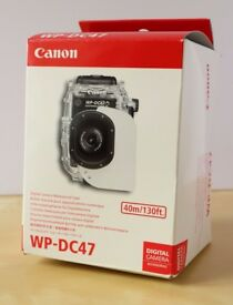 Canon WP-DC47 Underwater housing (for Canon S110 camera). BNIB Completely unused. Mint condition.