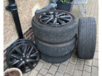 4 FORD FOCUS Tyres with Rims and caps. 16 inches.