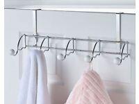 Chrome Over-Door Bath/Shower Hooks (NEW)
