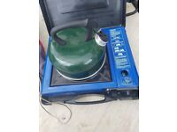 camping job lot gas fire gas cooker kettle