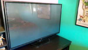 "60"" LG TV with optional entertainment unit"