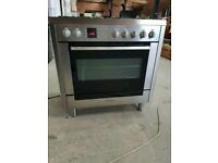 Stainless Steel A+ Class Bosch Gas Range Cooker With 5 Burners And Single Oven (Width 90cm)