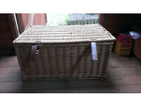 Large Wicker Picnic Hamper For Sale