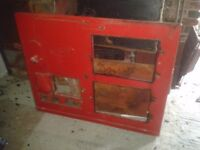 dismantled red gas aga