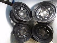 1991 LAND ROVER DISCOVERY Set Of 4 Steel Wheels (No Tyres) 5 Stud 7.5J x16