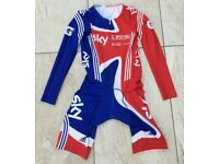 Adidas sky British Cycling team issue padded road track skinsuit size large BRAND NEW