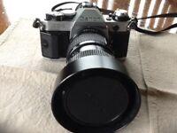 CANON AE-1 PROGRAM 35mm SLR CAMERA & LENSES