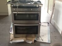 Gas hob and Neff electric fan oven with extractor fan