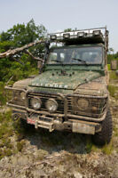 Off Road Driver Training in Land Rover Defenders