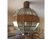 Large Glass/Brass ceiling light shade fitting