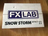 FX snow machine with accessories