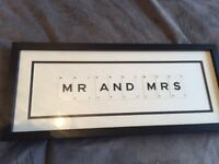 Vintage Playing Cards 'MR AND MRS' Framed Wall Art - £35