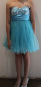 Blue Grad/Prom Dress- Size 4