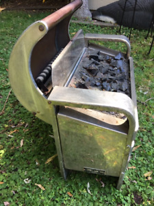 Electric antique fireplace insert