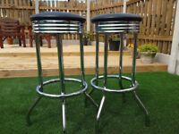 Bar stools (pair).